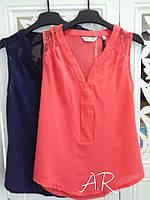 Блуза Безрукавка Майка Воздушная Шифоновая Красивая Кофточка с кружевом