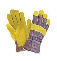 Перчатки спилковые, комбинированные RSC (спилок+х/б), цельная ладонь (типа КОМБИ)