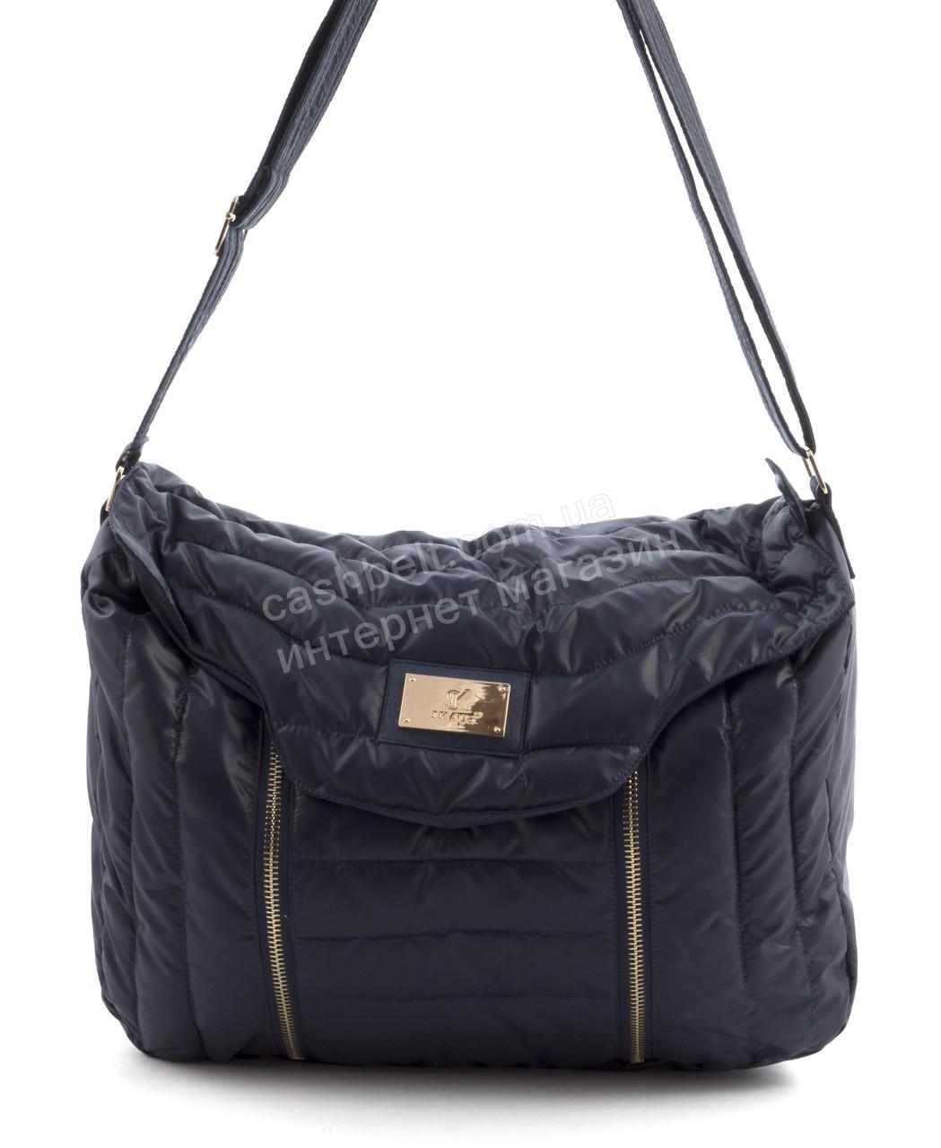 0384db9e25ba Вместительная мягкая прочная болоневая женская стеганая сумка БН art. 17-17  синяя - Ремешок