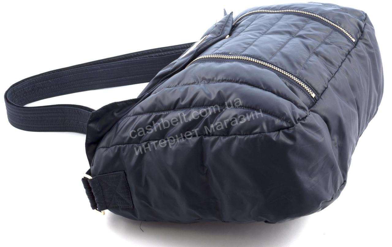 529f0bb8ea05 17-17 синяя, фото Вместительная мягкая прочная болоневая женская стеганая  сумка БН art.