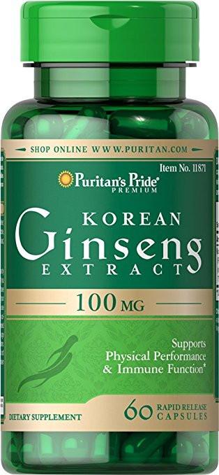 Puritan's Pride Korean Ginseng 100 мг 60 капс.