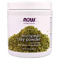 Глина европейская косметическая Now Foods European Clay Powder 397 грамм