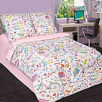 """Комплект постельного белья """"Модные штучки с розовым"""", в кроватку"""