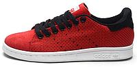 Женские кроссовки Adidas Stan Smith Original Red Адидас Стен Смит красные