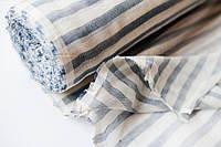 Ткань декоративная сине-белая полоса 75 пл. 237 ш.