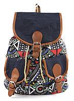 Спортивная яркая женская сумка-рюкзак Б/Н art. 101 разноцветная абстракция