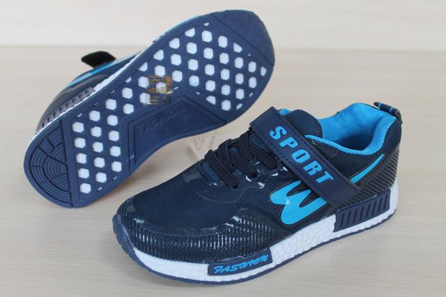 кроссовки синие скретчерс р 31- 36 style-baby.com