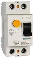 Модульное устройство защитного отключения, ERCCB.602.40.30,  6 кА, 2 п, 40 А, 30 мА