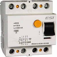 Модульное устройство защитного отключения, 10 кА, 4 п, 100 А, 300 мА