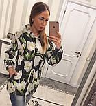 Женский модный кардиган-парка с цветами, фото 3