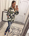Женский модный кардиган-парка с цветами, фото 4