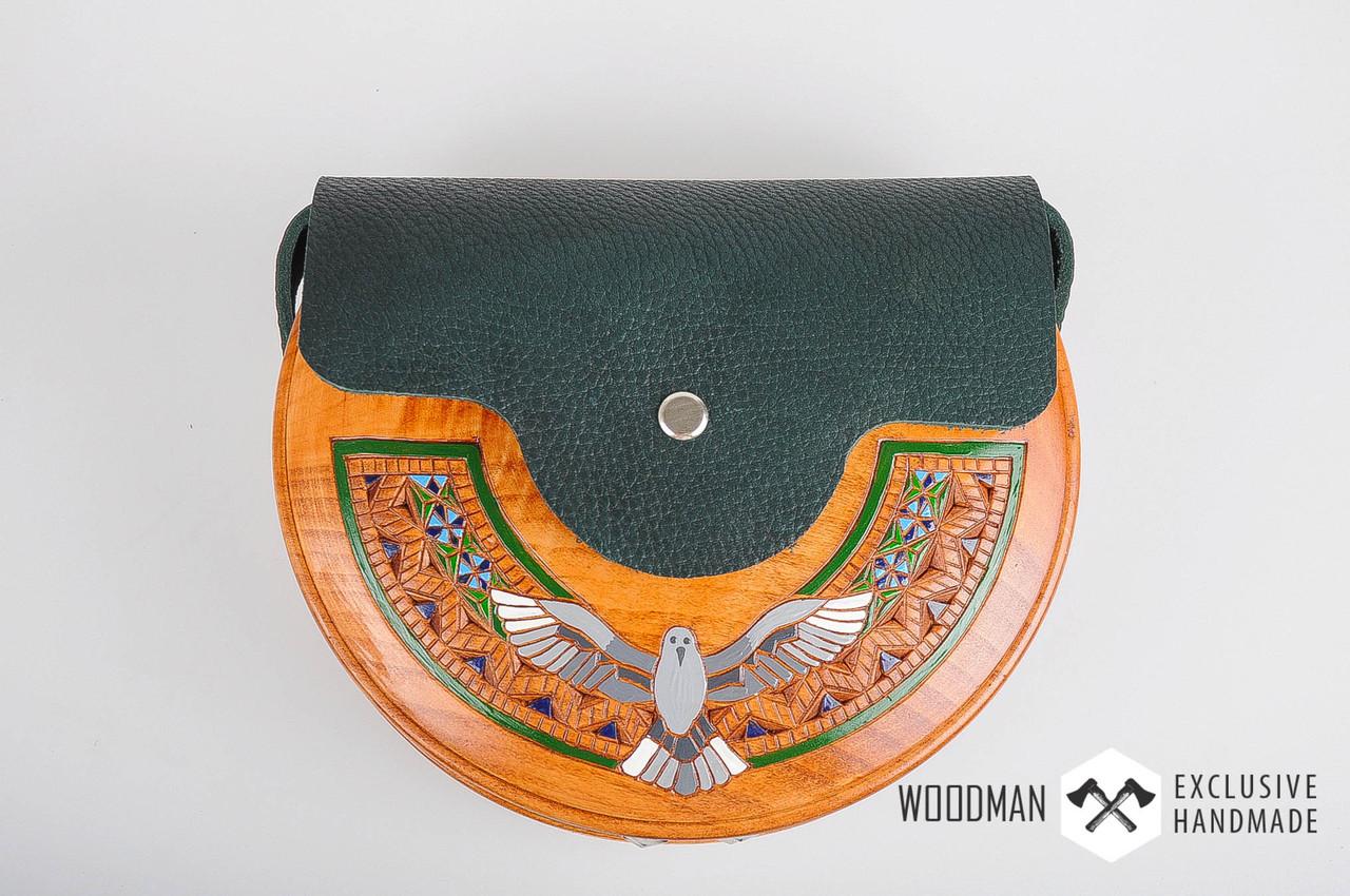 d4eb6d50a1ba Сумка ручной работы, деревянная сумка, сумка из элементами кожи - HandWork  Studio - Интернет