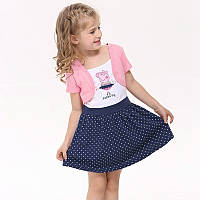 Детское  платье свинка Пеппа с болеро для девочек 4-6 лет