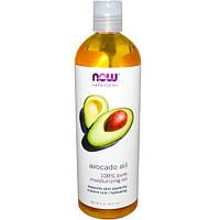 Масло авокадо косметическое Now Foods Avocado Oil 473 мл