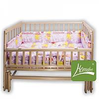"""Комплект постельного белья в детскую  кроватку """"Лялечка"""", 4 предмета, розовый, в сумке 60*40 см, ТМ Homefort"""