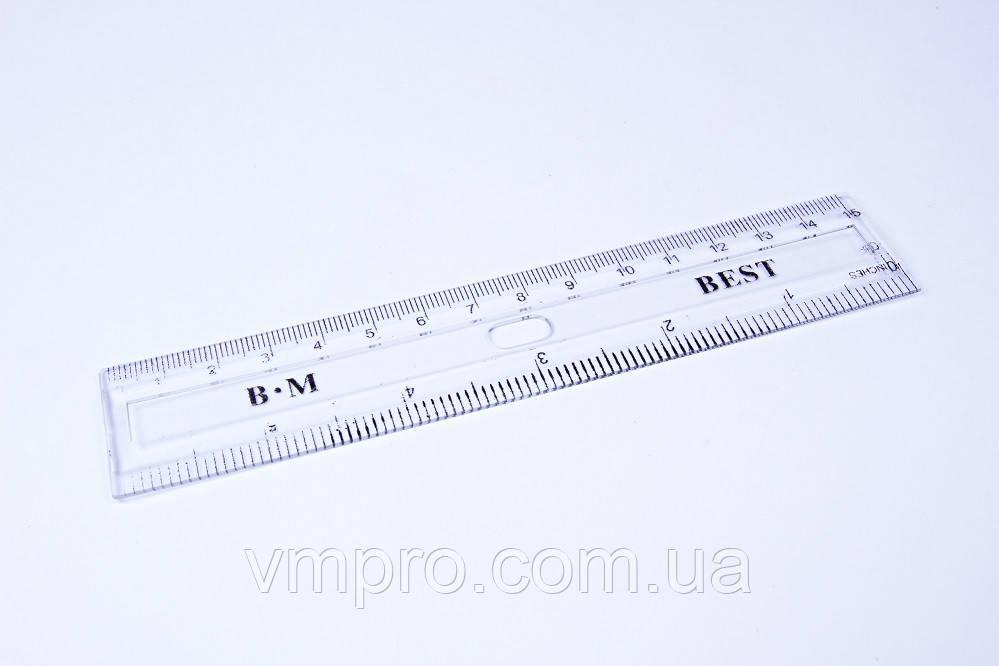 """Линейки прозрачные пластиковые """"Best"""", 15 см, №11283"""