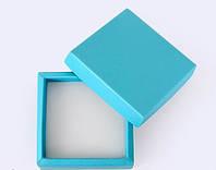 Коробка 70/70/30мм голубая для бижутерии