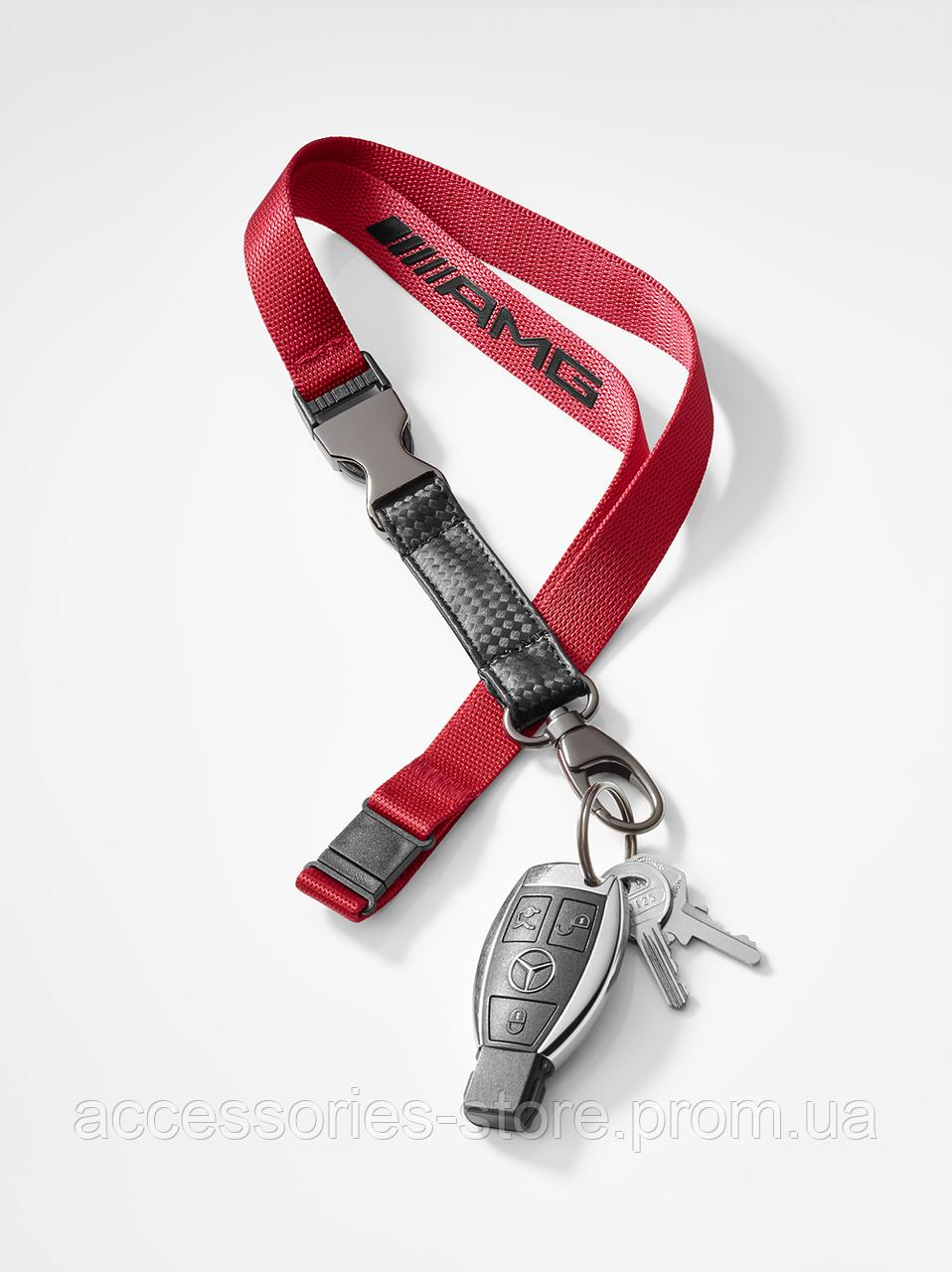 Лента с карабином для ключей Mercedes-AMG Lanyard, Red Black