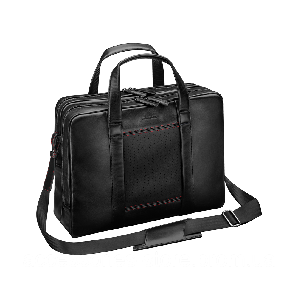 Кожаная деловая сумка Mercedes-Benz AMG Business Bag, Black