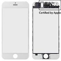 Защитное стекло корпуса для Apple iPhone 6, с рамкой, с OCA-пленкой, оригинал (белое)