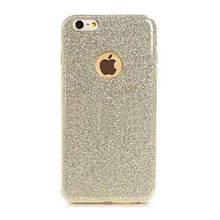 Чехол накладка силиконовый Remax Glitter для Samsung G610 J7 Prime золотистый