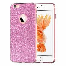 Чехол накладка силиконовый Remax Glitter для Samsung G610 J7 Prime розовый