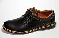 Мужские кожаные туфли Ecco 12040 черные