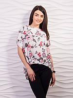 Блуза женская свободного кроя креп-шифон p.42-52 VM1887-1