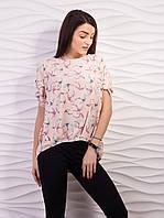 Блуза женская свободного кроя креп-шифон p.42-52 VM1887-2