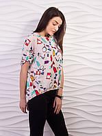 Блуза женская свободного кроя креп-шифон p.42-52 VM1887-3