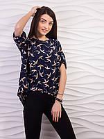Блуза женская свободного кроя креп-шифон p.42-52 VM1887-4