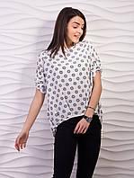 Блуза женская свободного кроя креп-шифон p.42-52 VM1887-5