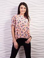 Блуза женская свободного кроя креп-шифон p.42-52 VM1887-6