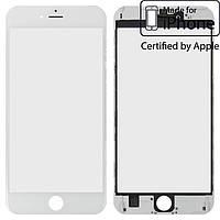 Защитное стекло корпуса для iPhone 6S Plus, с рамкой, с OCA-пленкой, белое, оригинал