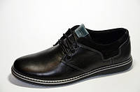 Мужские кожаные туфли Ecco 12041 черные