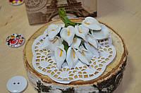 Цветы Каллы (цена за букет из 12 шт). Цвет - белый