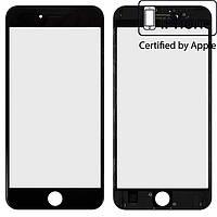 Защитное стекло корпуса для iPhone 6S Plus, с рамкой, с OCA-пленкой, черное, оригинал