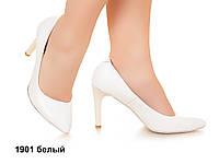 Туфли женские на высоком каблуке, из натуральной кожи от фабрики, р.36-41, 2 цвета, Sev Mar S1901