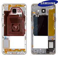 Средняя часть корпуса для Samsung Galaxy A5 A5100/A510FD (2016), оригинал (черная)