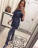 """Женский красивый джинсовый кардиган-туника """"Bobbi Brown"""", фото 5"""