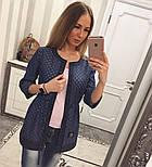 """Женский красивый джинсовый кардиган-туника """"Bobbi Brown"""", фото 6"""