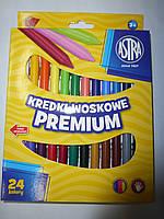 Карандаши восковые 24 цвета ASTRA