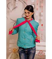 Женская  демисезонная куртка с шарфиком ,  размеры 42-44 44-46  46-48