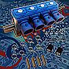 Газовые форсунки OMVL 4 цилиндра 3 Ohm