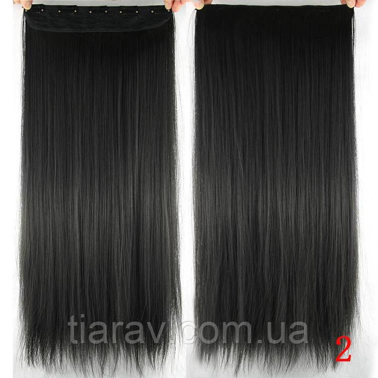 Волосы на заколках Накладные волосы на заколках черный цвет тресс