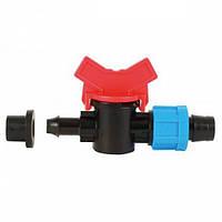 SL-003 Кран стартовый для пластиковой трубы с уп. резинкой, Dn 17*8/ КС 17х8R/