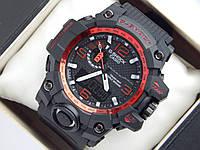 Спортивные часы Casio G-SHOCK GWG-1000 красный циферблат
