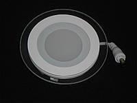 Светодиодный светильник SL 6Вт (круг,квадрат) Стекло, фото 1
