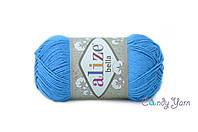 Турецкая пряжа Alize Bella голубой сочи №387