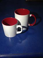 Чашка для сублимации детская (кофейная) цветная внутри 250 мл d70 (красный)